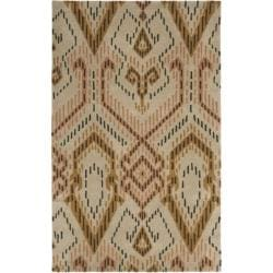 Safavieh Handmade Chatham Journey Brown New Zealand Wool Rug - 4' x 6' - Thumbnail 0