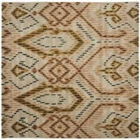 Safavieh Handmade Chatham Journey Brown New Zealand Wool Rug - 7' x 7' Square