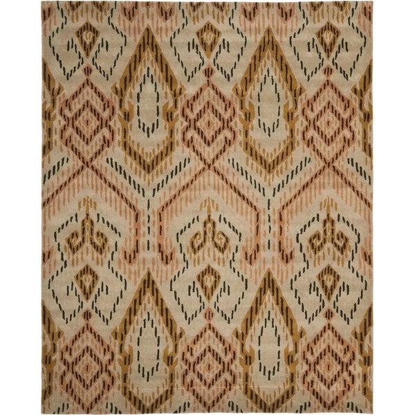 Safavieh Handmade Chatham Journey Brown New Zealand Wool Rug - 8' x 10'