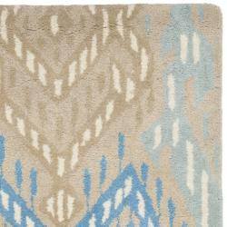 Safavieh Handmade Chatham Journey Beige New Zealand Wool Rug (2'3 x 9') - Thumbnail 1