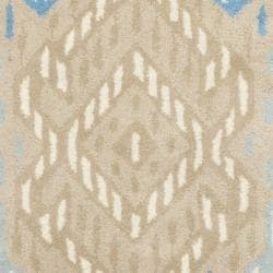 Safavieh Handmade Chatham Journey Beige New Zealand Wool Rug (2'3 x 9') - Thumbnail 2