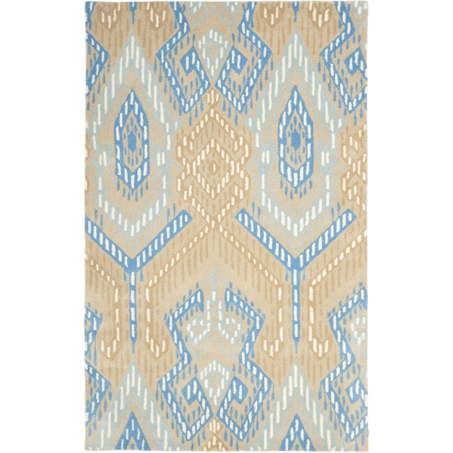 Safavieh Handmade Chatham Journey Beige New Zealand Wool Rug (4' x 6')
