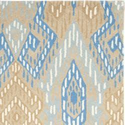 Safavieh Handmade Chatham Journey Beige New Zealand Wool Rug (4' x 6') - Thumbnail 1