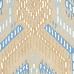Safavieh Handmade Chatham Journey Beige New Zealand Wool Rug (4' x 6') - Thumbnail 2