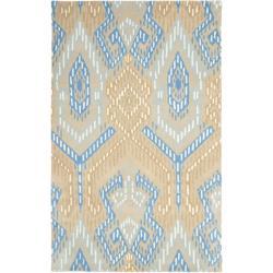 Safavieh Handmade Chatham Journey Beige New Zealand Wool Rug (5' x 8')