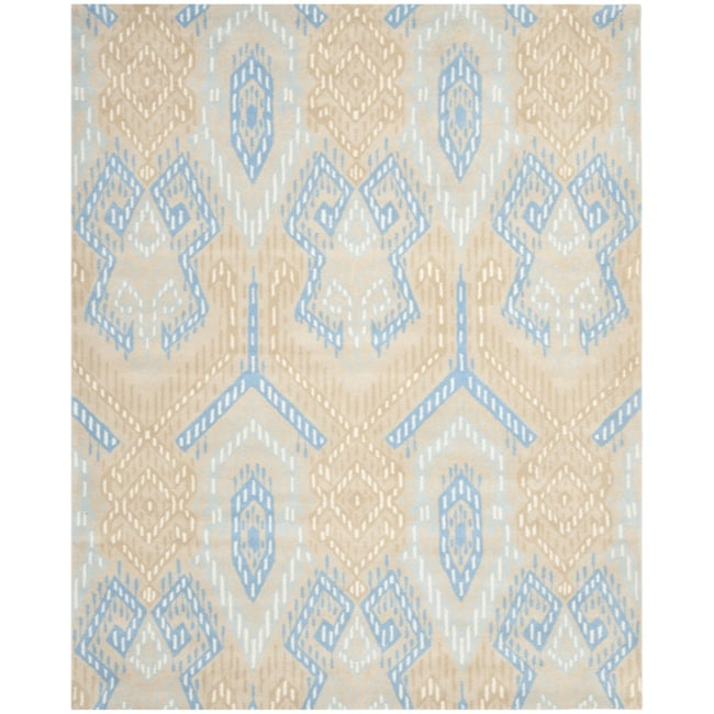 Safavieh Handmade Chatham Journey Beige New Zealand Wool Rug - 8' x 10'