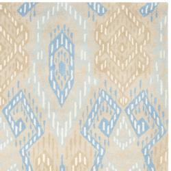 Safavieh Handmade Chatham Journey Beige New Zealand Wool Rug (8' x 10') - Thumbnail 1