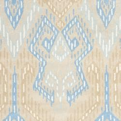 Safavieh Handmade Chatham Journey Beige New Zealand Wool Rug (8' x 10') - Thumbnail 2