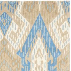 Safavieh Handmade Chatham Journey Blue New Zealand Wool Rug (4' x 6')