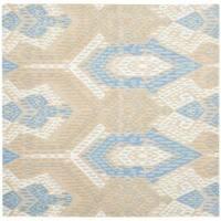 Safavieh Handmade Chatham Journey Blue New Zealand Wool Rug (7' Square) - 7' Square