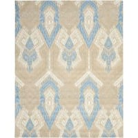 Safavieh Handmade Chatham Journey Blue New Zealand Wool Rug - 8' x 10'
