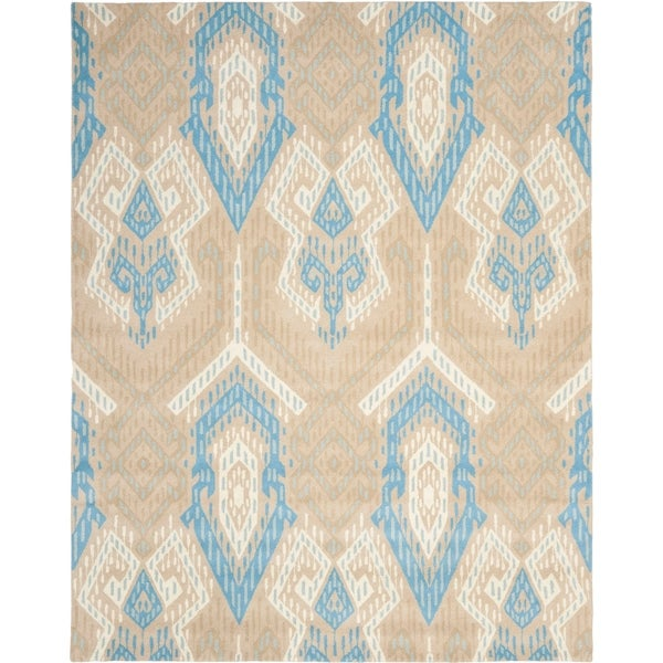 Safavieh Handmade Chatham Journey Blue New Zealand Wool Rug - 8' x 10'
