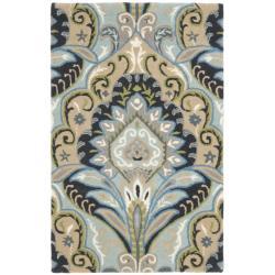 Safavieh Handmade Chatham Motif Blue New Zealand Wool Rug (2'6 x 4')