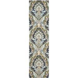 Safavieh Handmade Chatham Motif Blue New Zealand Wool Rug (2'3 x 9')