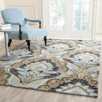Safavieh Handmade Chatham Motif Blue New Zealand Wool Rug - 4' x 6'