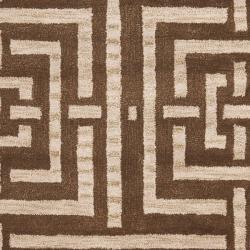 Safavieh Handmade Chatham Basketweave Brown New Zealand Wool Rug (5' x 8') - Thumbnail 2