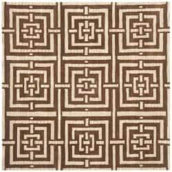 Safavieh Handmade Chatham Basketweave Brown New Zealand Wool Rug (7' Square)