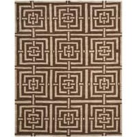 Safavieh Handmade Chatham Basketweave Brown New Zealand Wool Rug - 8' x 10'
