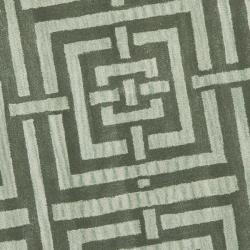 Safavieh Handmade Chatham Basketweave Sage New Zealand Wool Rug (7' Round) - Thumbnail 2