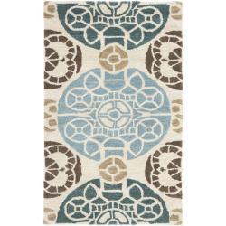 Safavieh Handmade Chatham Treasures Beige New Zealand Wool Rug (2'6 x 4')