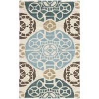 Safavieh Handmade Chatham Treasures Beige New Zealand Wool Rug - 2'6 x 4'