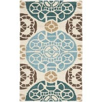 "Safavieh Handmade Chatham Treasures Beige New Zealand Wool Rug - 2'6"" x 4'"