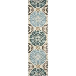 Safavieh Handmade Chatham Treasures Beige New Zealand Wool Rug (2'3 x 9')