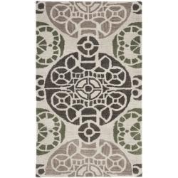Safavieh Handmade Chatham Treasures Ivory New Zealand Wool Rug (2'6 x 4')