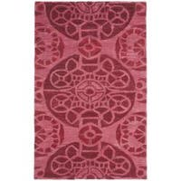 Safavieh Handmade Chatham Treasures Red New Zealand Wool Rug - 2'6' x 4'