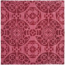 Safavieh Handmade Chatham Treasures Red New Zealand Wool Rug (7' Square)