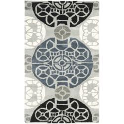 Safavieh Handmade Chatham Treasures Grey New Zealand Wool Rug - 2'6 x 4' - Thumbnail 0