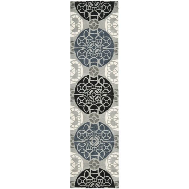 Safavieh Handmade Chatham Treasures Grey New Zealand Wool Rug (2'3 x 9')