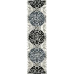 Safavieh Handmade Chatham Treasures Grey New Zealand Wool Rug (2'3 x 9')
