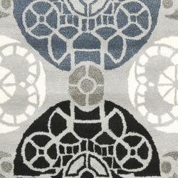 Safavieh Handmade Chatham Treasures Grey New Zealand Wool Rug (4' x 6') - Thumbnail 2