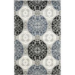 Safavieh Handmade Chatham Treasures Grey New Zealand Wool Rug (4' x 6')