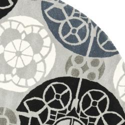 Safavieh Handmade Chatham Treasures Grey New Zealand Wool Rug (7' Round)
