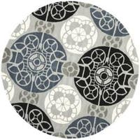 Safavieh Handmade Chatham Treasures Grey New Zealand Wool Rug - 7' x 7' Round