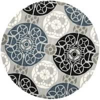 Safavieh Handmade Chatham Treasures Grey New Zealand Wool Rug - 7' x 7' Round