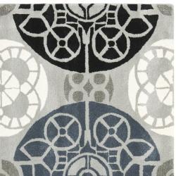Safavieh Handmade Chatham Treasures Grey New Zealand Wool Rug (7' Square) - Thumbnail 1