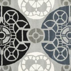 Safavieh Handmade Chatham Treasures Grey New Zealand Wool Rug (7' Square) - Thumbnail 2