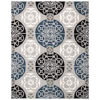 Safavieh Handmade Chatham Treasures Grey New Zealand Wool Rug - 8' x 10'