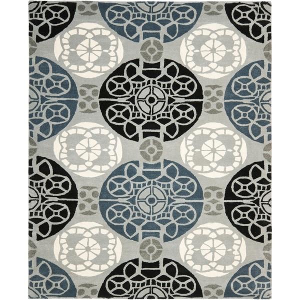 Safavieh Handmade Chatham Treasures Grey New Zealand Wool Rug - 8' x 10'