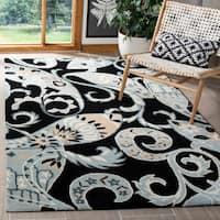 Safavieh Handmade Chatham Gardens Black New Zealand Wool Rug - 5' x 8'