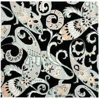 Safavieh Handmade Chatham Gardens Black New Zealand Wool Rug - 7' x 7' Square