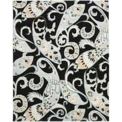 Safavieh Handmade Chatham Gardens Black New Zealand Wool Rug (8' x 10')