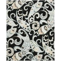 Safavieh Handmade Chatham Gardens Black New Zealand Wool Rug - 8' x 10'