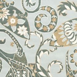 Safavieh Handmade Chatham Gardens Blue New Zealand Wool Rug (8' x 10') - Thumbnail 2