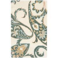 """Safavieh Handmade Chatham Gardens Ivory New Zealand Wool Rug - 2'-6"""" x 4'"""