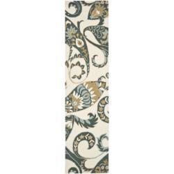 Safavieh Handmade Chatham Gardens Ivory New Zealand Wool Rug (2'3 x 9')