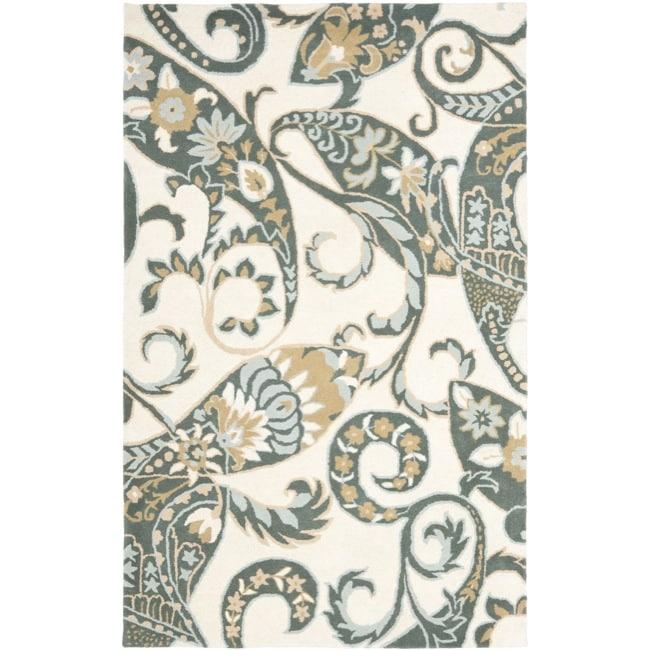 Safavieh Handmade Chatham Gardens Ivory New Zealand Wool Rug (4' x 6')